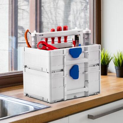 Systainer3 ToolBox M137/M237 illustrert m/innhold på kjøkkenbenk